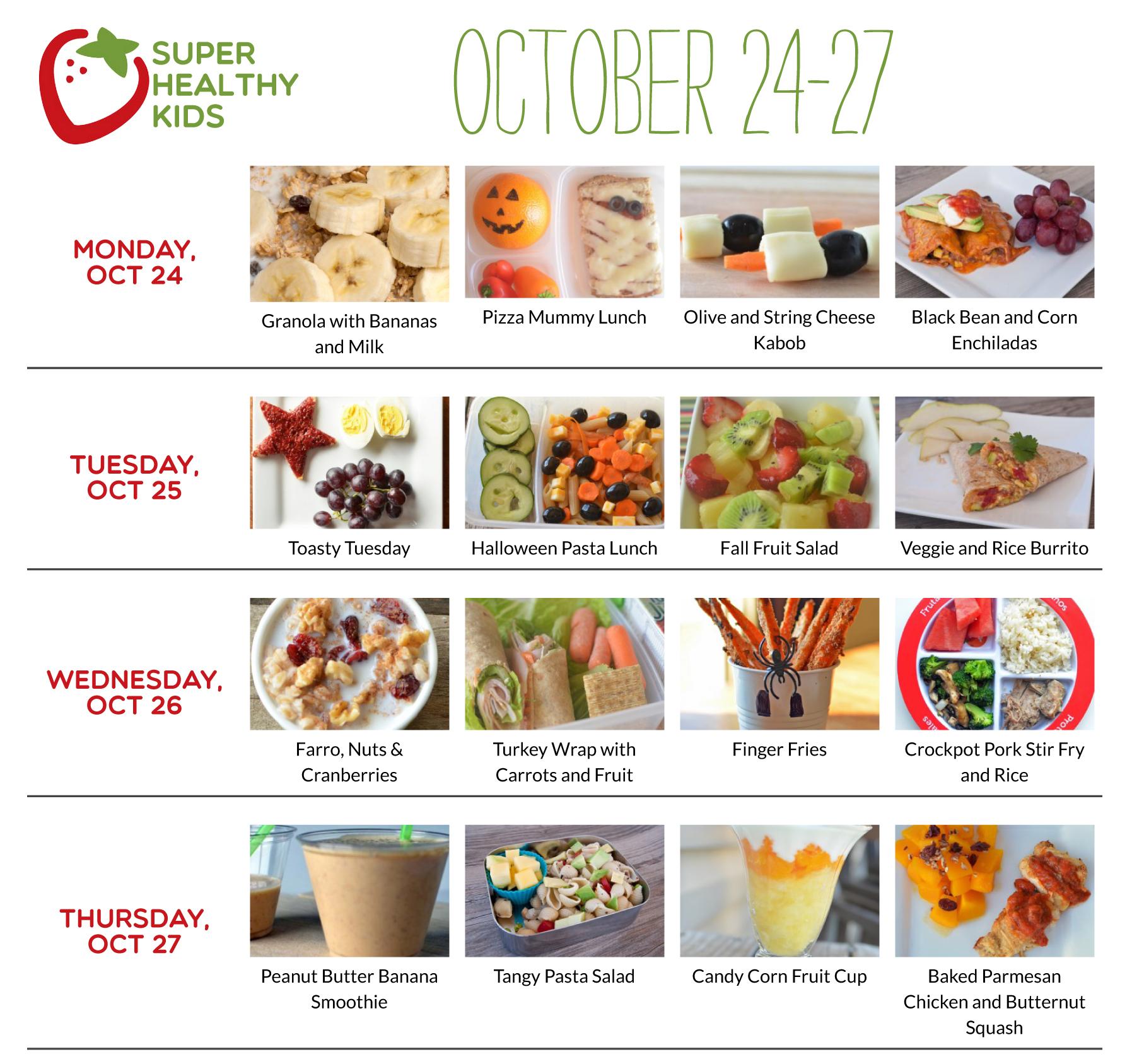 October 24-30 | Super Healthy Kids