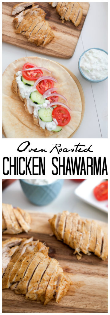 FOOD - Oven Roasted Chicken Shawarma. Flavorful oven roasted chicken shawarma pairs perfectly with refreshing tzaziki! This easy, healthy recipe can be made ahead for a stress-free dinner. http://www.superhealthykids.com/oven-roasted-chicken-shawarma-recipe/