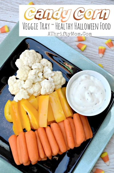 Candy corn veggie tray
