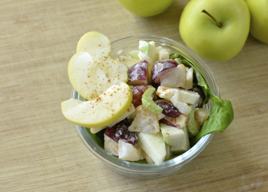 Spinach Waldorf Salad With Cinnamon-Apple Dressing Recipe ...