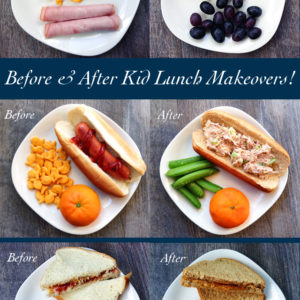 Before and After Kid Lunch Makeovers