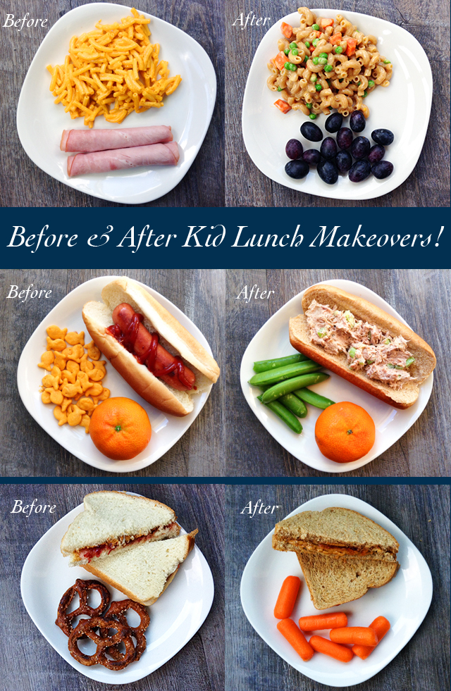 before and after kid lunch makeovers healthy ideas for kids. Black Bedroom Furniture Sets. Home Design Ideas