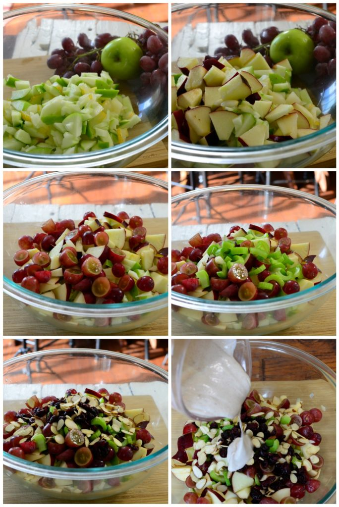 High Fiber salad for kids- Apple cinnamon Waldorf Salad
