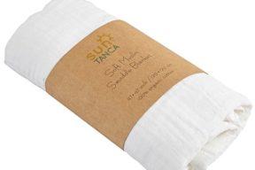 White Baby Blanket - Large Breathable Swaddle Cotton Blanket