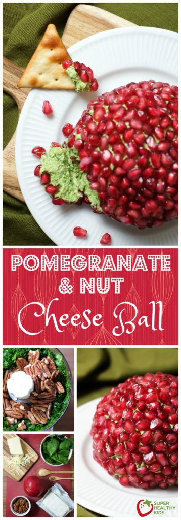 Pomegranate and Nut Cheese Ball | Holiday | Super Healthy Kids | Food and Drink http://www.superhealthykids.com/pomegranate-nut-cheese-ball-recipe/