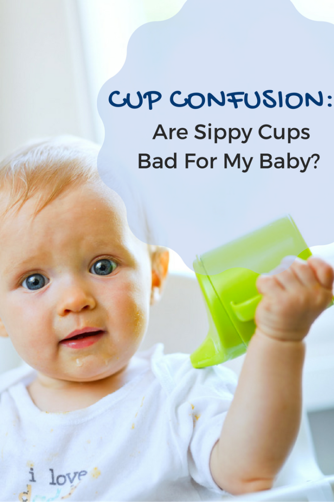 Cup Confusion: Are Sippy Cups Bad For My Baby? Many parents don't realize that babies can and should be introduced to regular, open cups at about six months of age. Here are 3 reasons why. http://www.superhealthykids.com/cup-confusion-sippy-cups-bad-baby/