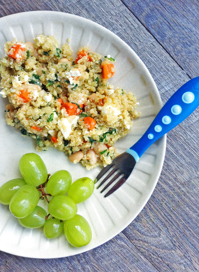 Lemony Quinoa with Spinach, Feta and Beans | Healthy Ideas for Kids