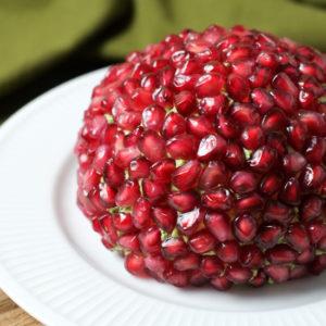 Pomegranate & Nut Cheese Ball Recipe [with hidden veggie!]