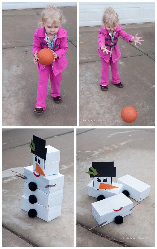 snowman-bowling