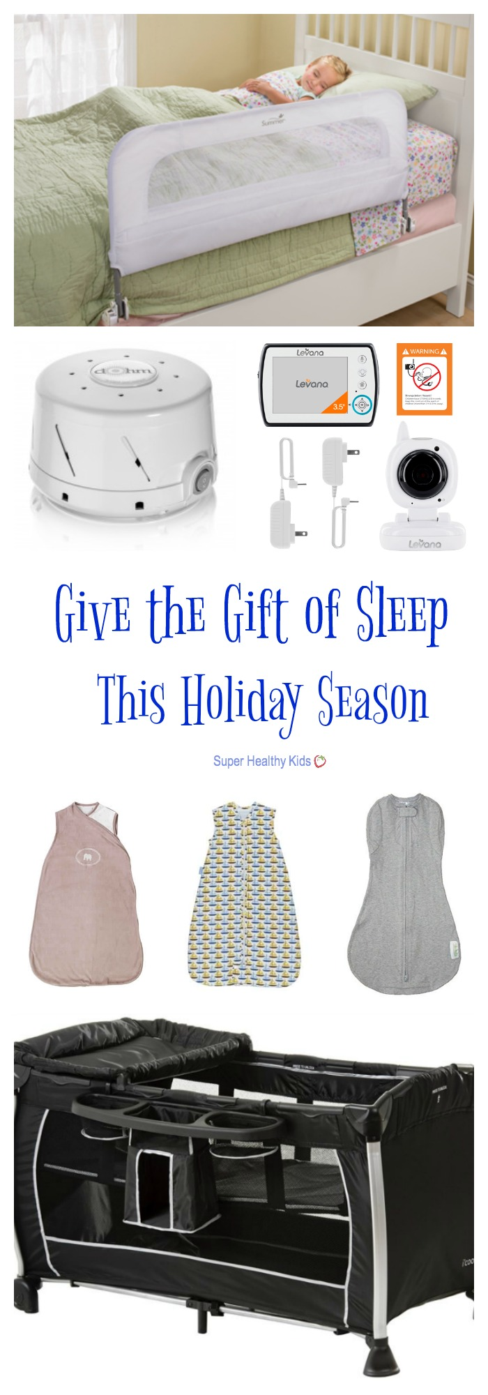 Give the Gift of Sleep This Holiday Season. Give the gift of sleep to the little one on your list this holiday season. We've got the top 5 sleep gifts to help your child rest easy. http://www.superhealthykids.com/give-gift-sleep-holiday-season/