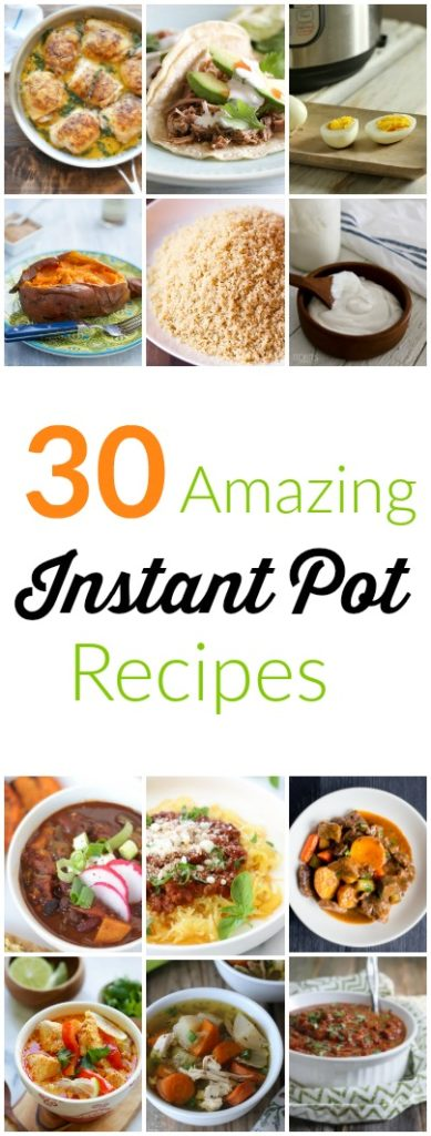 FOOD - 30 Amazing Instant Pot Recipes. The Instant Pot is the new kitchen super hero, and teamed up with the recipes from our round up, its powers are practically boundless. http://www.superhealthykids.com/amazing-instant-pot-recipe-round/