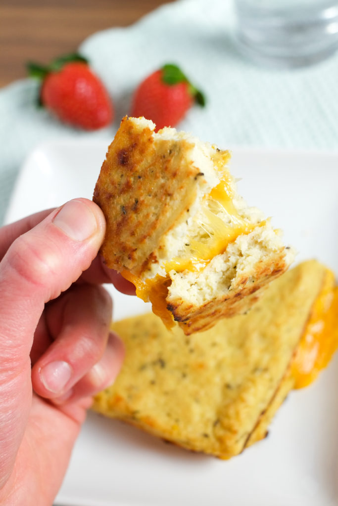 Grilled Cheese with Cauliflower Bread   Super Healthy Kids   Food and Drink