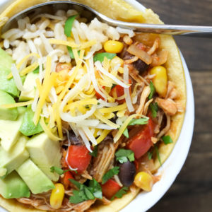 Slow Cooker Chicken Enchilada Bowls