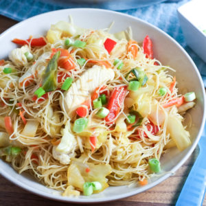 Easy Pancit Noodles and Veggies