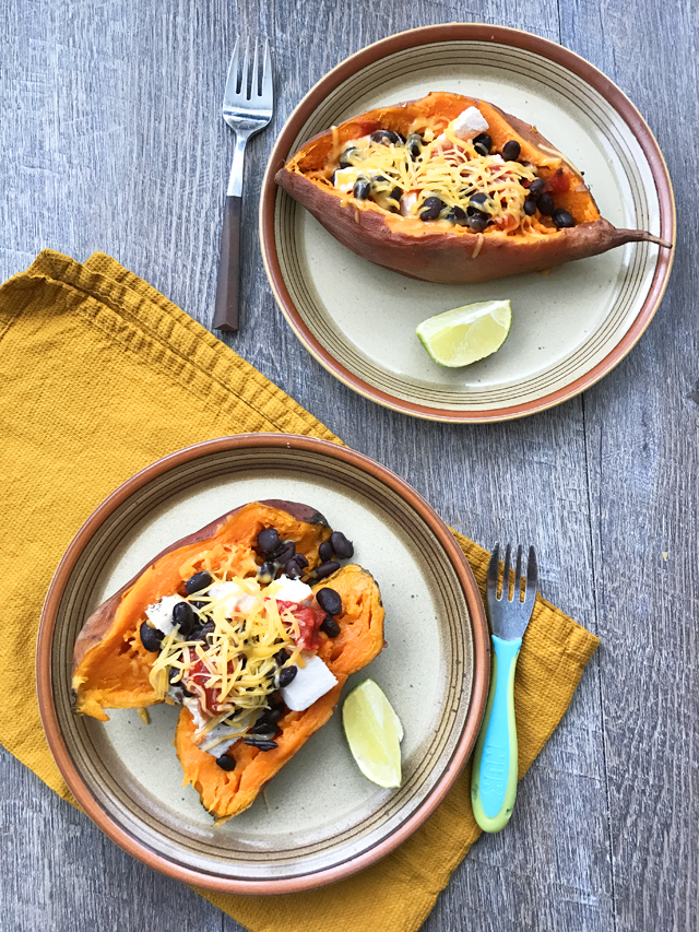Loaded Baked Sweet Potatoes