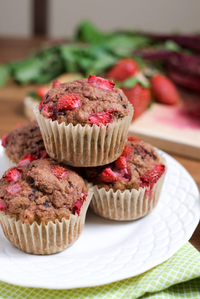 Whole Wheat Strawberry Beet Muffins Recipe | Super Healthy Kids | Food and Drink