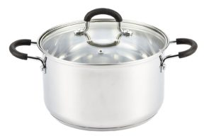 Cook N Home Stainless Steel Stockpot With Lid, 5 Quart, Silver