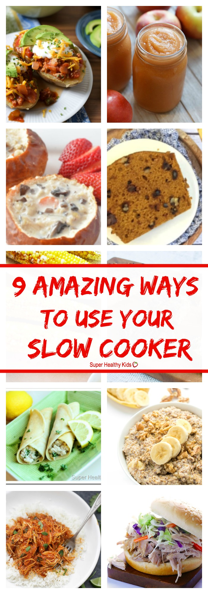 FOOD - 9 AMAZING Ways to Use Your Slow Cooker. Your slow cooker can make so many things you have probably never thought of! http://www.superhealthykids.com/9-amazing-ways-use-slow-cooker/