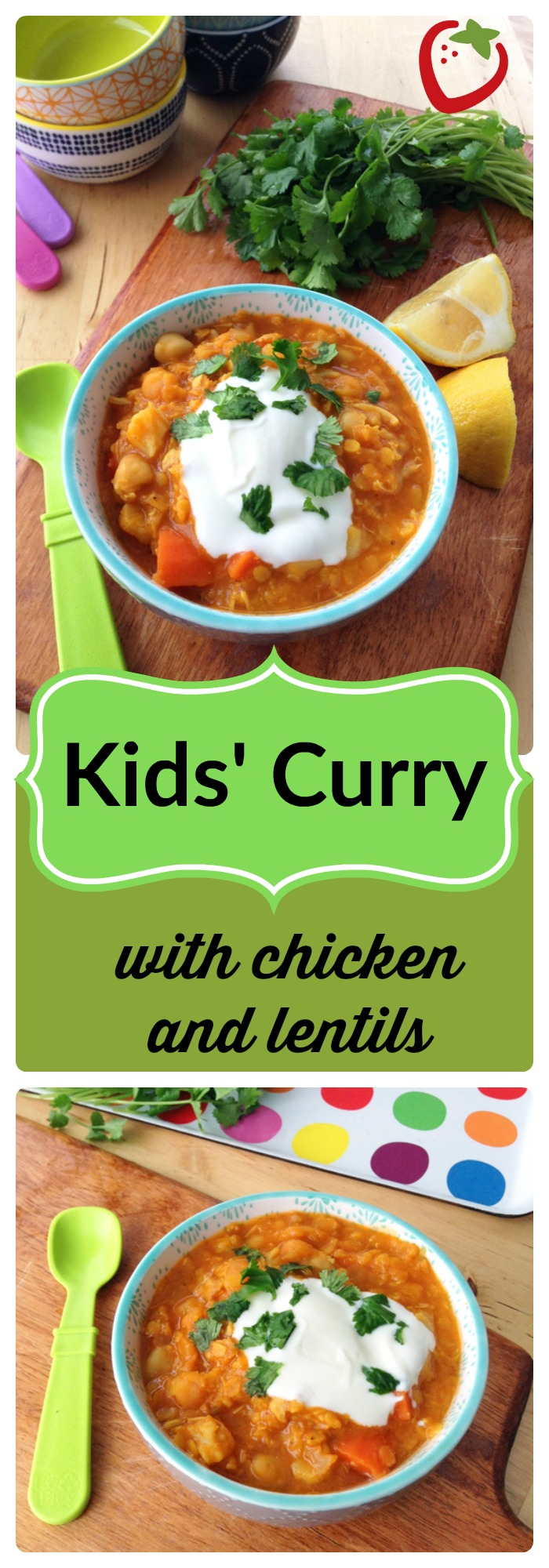 """FOOD - Kids' Curry with Chicken and Lentils. Redefine """"kid-friendly"""" with this mild, warming, healthy curry packed with protein and vegetables. http://www.superhealthykids.com/kids-curry-with-chicken-and-red-lentils/"""