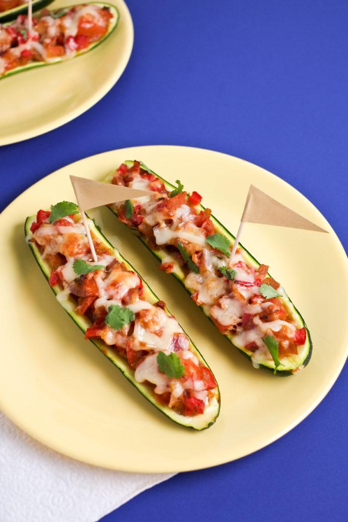 Enchilada-Stuffed Zucchini Boats | Healthy Ideas for Kids