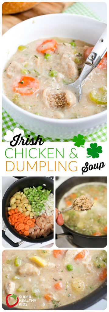 Irish Chicken and Dumpling Soup | Healthy St. Patrick's Day Dinner! | Super Healthy Kids | Food and Drink
