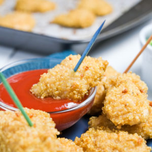 Quinoa Coated Chicken Nuggets Recipe