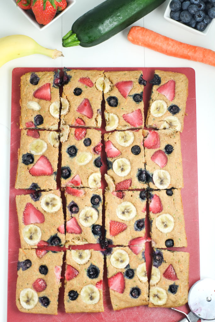 Fruit & Veggie Sheet Pan Pancakes | Super Healthy Kids | Food and Drink