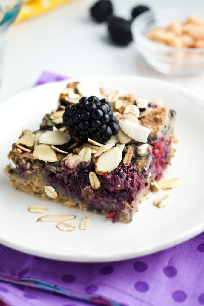 Blackberry breakfast bars with BEANS in them!?