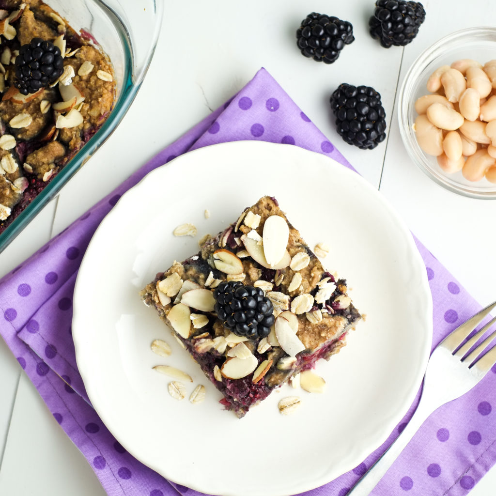 Breakfast bars with hidden nutrition -- beans!