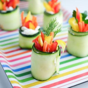 Fresh Cucumber Roll-ups