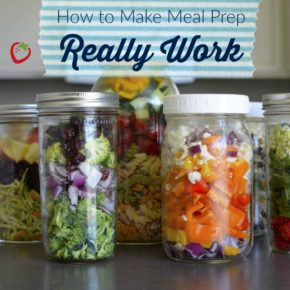 meal prep veggie jars