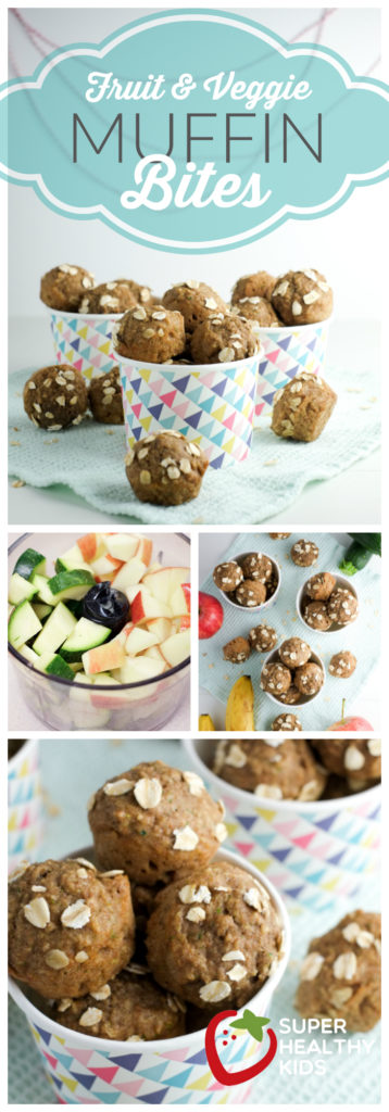 Fruit and Veggie Muffin Bites Recipe | Super Healthy Kids | Road Trip Snacks | Food and Drink