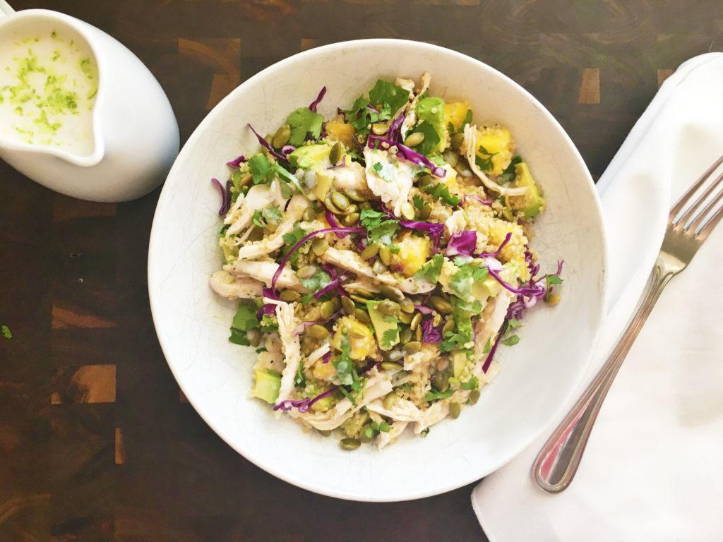 Quinoa Mango Avocado Chicken Salad with Coconut Lime ...