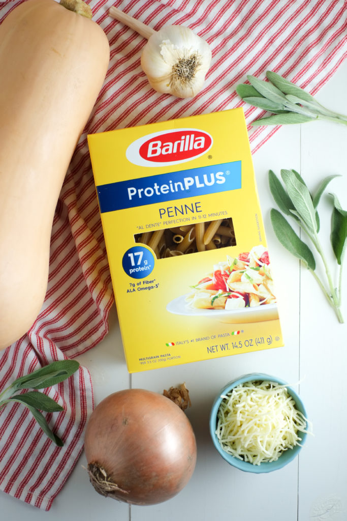 All wholesome ingredients - including Barilla® ProteinPLUS® (made of chickpeas, lentils, egg whites, flaxseeds, barley, and oats!).