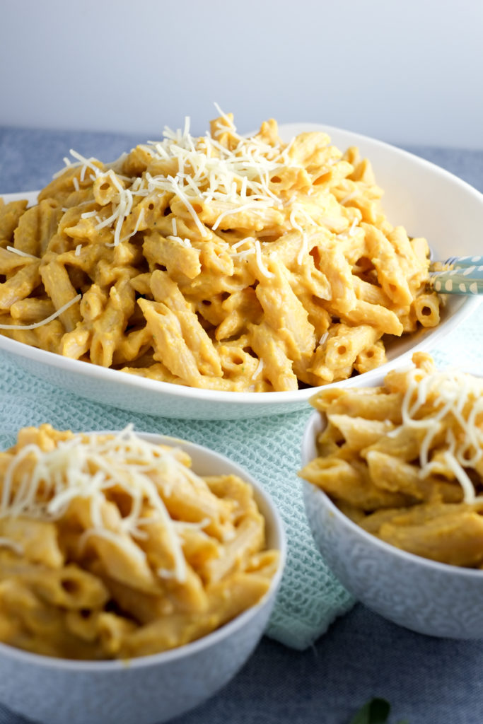 A big batch of butternut squash pasta the whole family loves!