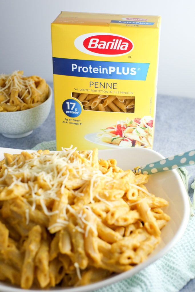 Barilla® ProteinPLUS® pasta is the perfect way to boost the nutrition of any pasta dish. High in protein, fiber, and ala omega-3s!