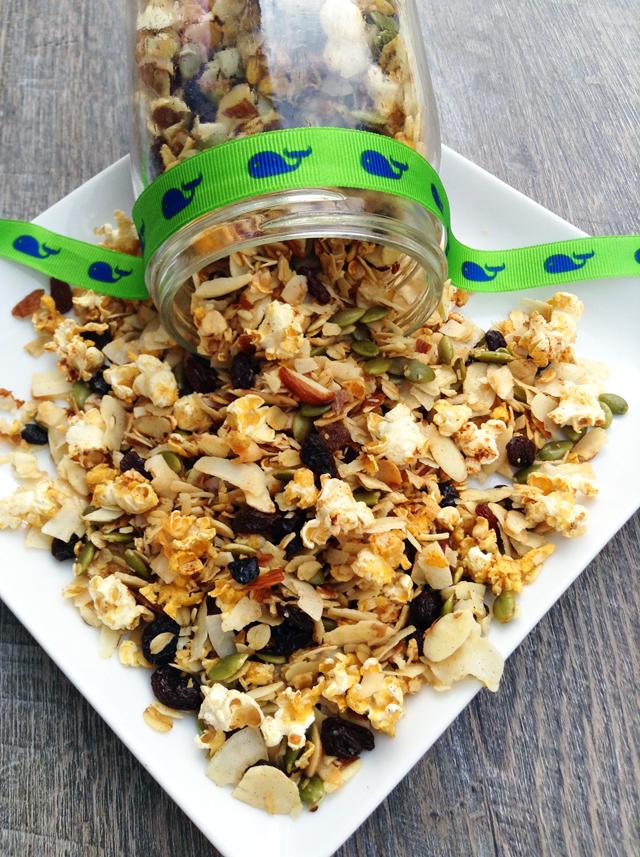 Healthy Popcorn Granola