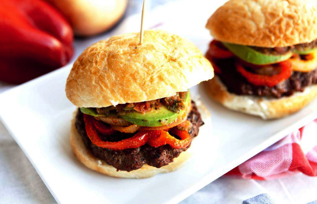 Juicy Flavor Packed Fajita Burgers
