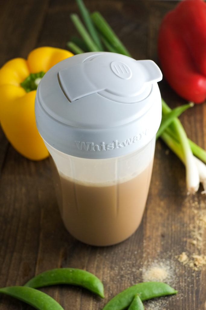 Whiskware is amazing for shaking up sauces! Less mess!