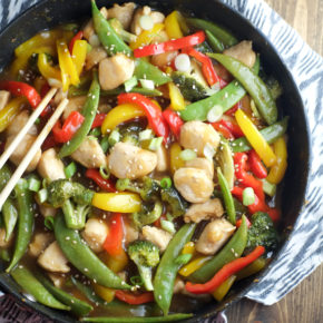 Dinner is served! Homemade stir-fry sauce for the win.