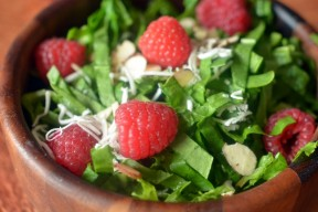 Raspberry Salad with Homemade Raspberry Vinegar