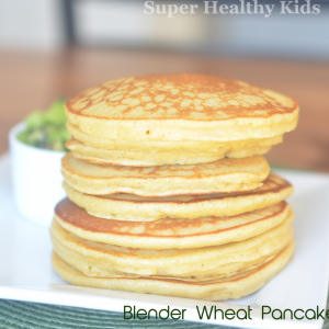 Blender Wheat Pancakes with Kiwi and Bananas