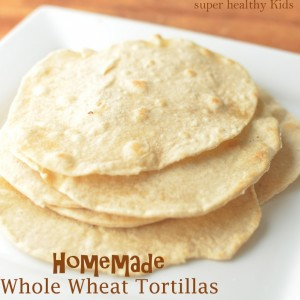 Homemade Whole Wheat Tortillas with Holiday Breakfast Burrito