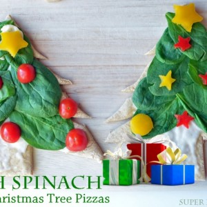 Fresh Spinach Personal Christmas Pizza Trees
