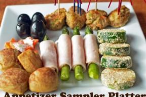 Appetizer Sample Platter with Turkey Power Balls!