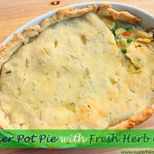 Freezer Pot Pie Recipe with Fresh Herb Crust