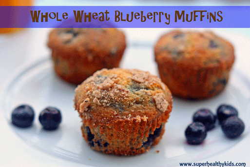 Whole Wheat Blueberry Muffins | Healthy Ideas for Kids