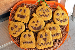 Pumpkin Roll Out Cookies with Beans and Coconut Sugar