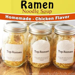 Homemade Top Ramen {Low Sodium}