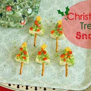 Cheesy Christmas Tree Snack